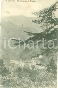 1910 FOBELLO (VC) Panorama di CIMALCAMPO in Valsesia Cartolina FP VG