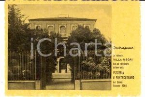 1950 ca PONTECAGNANO (SA) VILLA NEGRI - Pizzeria e locale notturno *Cartolina