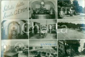 1953 TARANTO Vedutine delle Scuole C.E.M.M. Cartolina FG VG