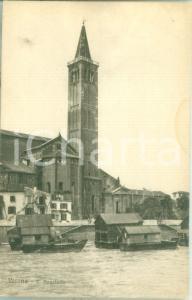 1935 ca VERONA Case galleggianti e Chiesa di SANT'ANASTASIA *Cartolina FP NV