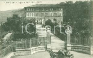 1930 ca CHIANCIANO TERME (SI) Automobile al Grand Hotel *Cartolina FP NV