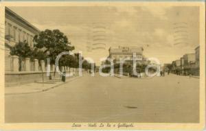 1939 LECCE Veduta dei Viali LO RE e GALLIPOLI *Cartolina ANIMATA FP VG