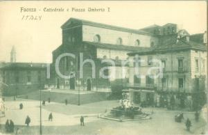 1935 ca FAENZA (RA) Cattedrale e Piazza UMBERTO I *Cartolina FP NV