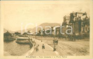 1935 ca PALERMO Foro Umberto I e Porta Felice *Cartolina ANIMATA FP NV
