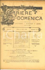 1890 CORRIERE DELLA DOMENICA Ultima battaglia di Drumont *Rivista ANNO I n° 13