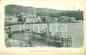 1905 LERICI (SP) Pescatori sul moletto a SAN TERENZO *Cartolina FP VG
