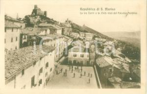 1930 ca REPUBBLICA DI SAN MARINO Le Tre Torri e la Città *Cartolina FP NV