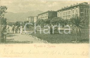 1899 LA SPEZIA Bambini a passeggio in Via MAZZINI *Cartolina FP NV