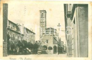 1930 BOLOGNA Via ZAMBONI Piazza Giuseppe VERDI *Cartolina FP VG