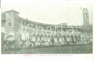 1900 ca AREZZO L'anfiteatro ora Convento di SAN BERNARDO *Cartolina FP NV