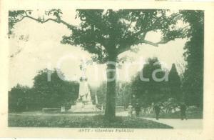 1930 ca ASTI Passanti ai Giardini pubblici *Cartolina postale FP VG