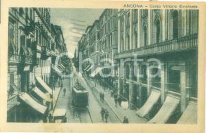 1930 ANCONA Tram in Corso Vittiorio Emanuele *Cartolina FP VG