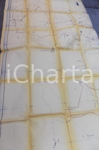 1946 CEPRANO - FALVATERRA (FR) Mappa stradale dell'area *100x220 cm