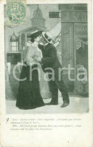 1906 INNAMORATI Baccio sulla piazza del PANTHEON Cartolina postale FP VG