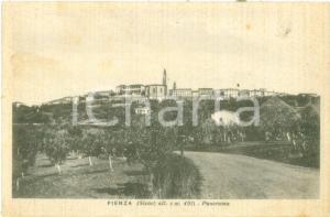 1940 PIENZA (SI) Panorama del paese dai campi Cartolina FP VG