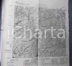 1943 Istituto Geografico Militare CARTA D'ITALIA - CHAMPORCHER *Mappa 55x50