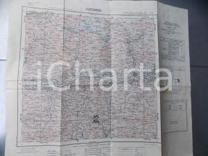 1950 Istituto Geografico Militare CARTA D'ITALIA - SONDRIO *Mappa 55x50
