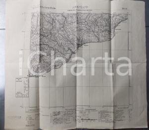 1946 Istituto Geografico Militare CARTA D'ITALIA - ARENZANO *Mappa 55x50 cm