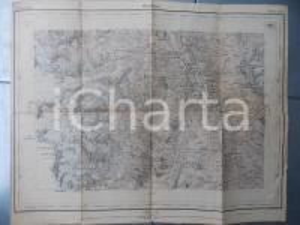 1901 Topographisches Atlas der SCHWEIZ - ORSIERES *Blatt n° 529 42x33 cm