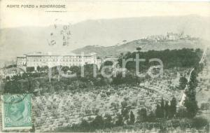 1913 MONTE PORZIO (PU) Panorama con Villa MONDRAGONE Cartolina FP VG