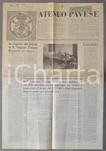 1955 PAVIA ATENEO PAVESE Vincenzo RIGANTI  e i giovani cattolici all'Università