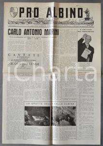 1959 PRO ALBINO Il musicista Carlo Antonio MARINI *Giornale anno VI n°2