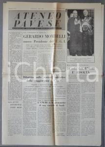 1956 PAVIA ATENEO PAVESE Gerardo MOMBELLI nuovo presidente UGI *Giornale