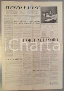 1956 PAVIA ATENEO PAVESE Crisi interna dell'Unione Goliardica Italiana *Giornale