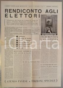 1955 ATENEO PAVESE Rendiconto agli elettori *Giornale - edizione speciale