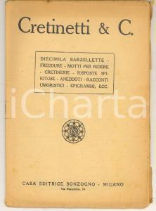 1930 ca CRETINETTI & C. Diecimila barzellette freddure cretinerie *Ed. SONZOGNO