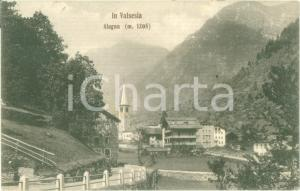 1909 ALAGNA VALSESIA (VC) Panorama del paese *Cartolina FP NV