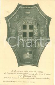 1900 ca VICENZA Scudo del reggimento Cavalleggeri *Cartolina FP NV