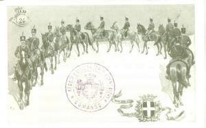 1900 ca VICENZA 24° Reggimento Cavalleggeri *Cartolina reggimentale FP NV