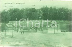 1923 BOLOGNA Veduta del giardino della MONTAGNOLA *Cartolina FP VG