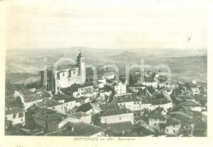 1945 ca COCCONATO (AT) Panorama con la chiesa parrocchiale *Cartolina FG VG