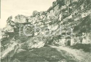 1955 ca MATERA Le grotte di CASALNUOVO Rione del Sasso *Cartolina ANIMATA FG NV