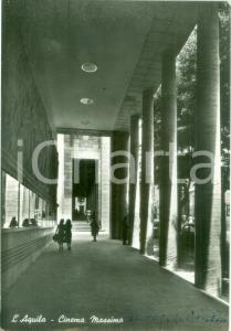 1953 L'AQUILA I porti del Cinema MODERNO *Cartolina ANIMATA FG VG