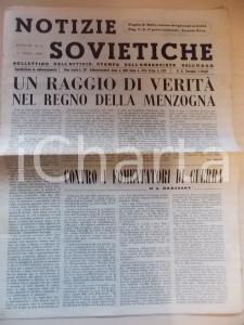 1948 NOTIZIE SOVIETICHE Contro i fomentatori di guerra *Anno III n° 55