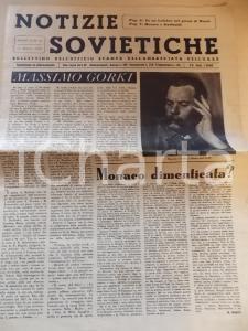 1948 NOTIZIE SOVIETICHE Ricordo di Massimo GORKI *Anno III n° 42