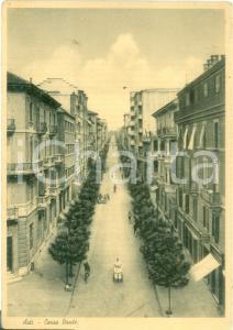 1945 ASTI Gelataio in Corso DANTE *Cartolina postale ANIMATA FG VG