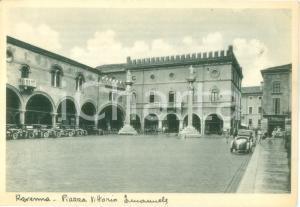 1934 RAVENNA Piazza Vittorio Emanuele con automobili *Cartolina FG NV