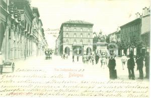 1910 BOLOGNA Carrozza Cordiale CAMPARI in Via Indipendenza *Cartolina ANIMATA