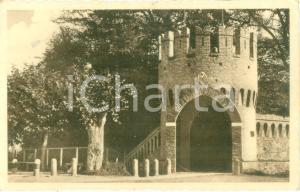 1946 MALEO (LO) Torrione del Palazzo TRECCHI *Cartolina FP VG