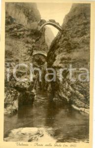 1938 VARALLO (VC) Ponte della GULA in VALSESIA *Cartolina FP VG
