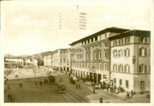 1949 FIRENZE Tram in Piazza della Stazione *Cartolina FG VG