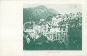 1900 ca SALERNO Panorama del Borgo CORPO DI CAVA *Cartolina FP NV
