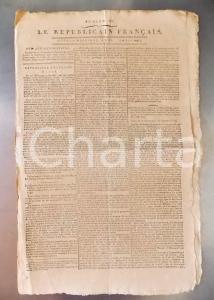 1796 LE REPUBLICAIN FRANCAIS Gazette REVOLUTION N° 1289 Arrestation de DROUET