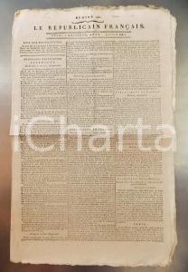 1796 LE REPUBLICAIN FRANCAIS Gazette REVOLUTION N° 1290 Arrestation de DROUET