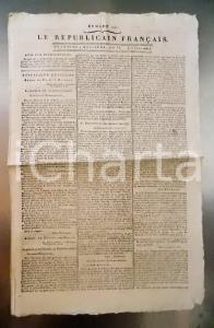 1796 LE REPUBLICAIN FRANCAIS Gazette REVOLUTION N° 1291 Armée RHIN ET MOSELLE