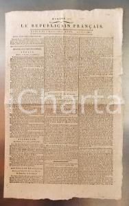 1796 LE REPUBLICAIN FRANCAIS Gazette REVOLUTION N° 1292 La conspiration actuelle